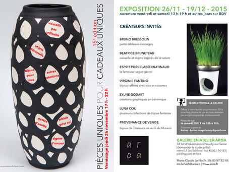 Du 26 nov. au 19 déc, galerie AROA à Neuilly-sur-Seine