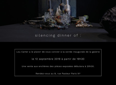 """Silencing dinner of"", Lou Carter Gallery"