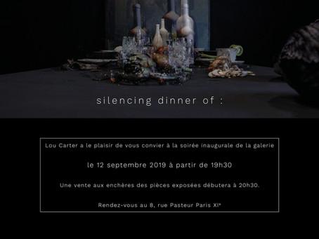 """Silencing dinner of"", Lou Carter Gallery"