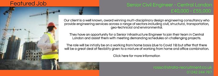 Featured Job Senior Civ Engineer London.