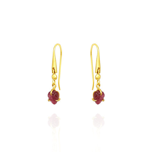 Pink Tourmaline small earrings