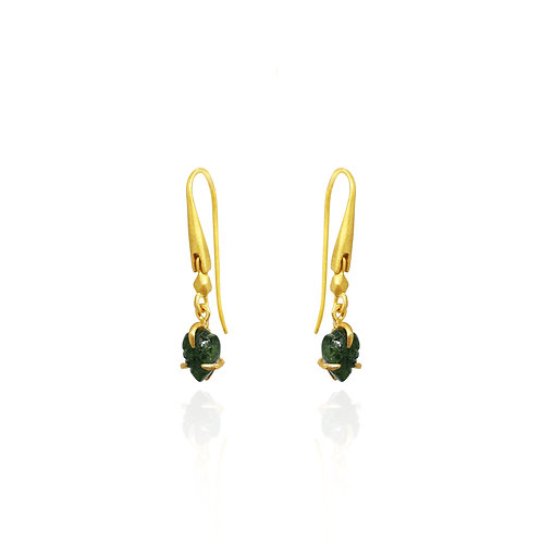 Green Tourmaline small earrings