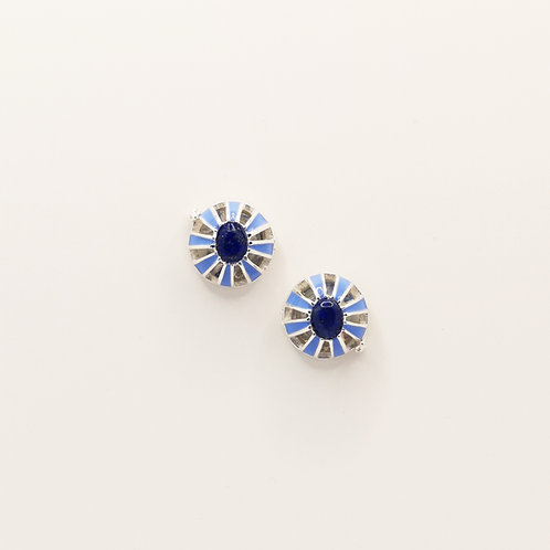 Pale blue and Lapiz Lazuli buttons