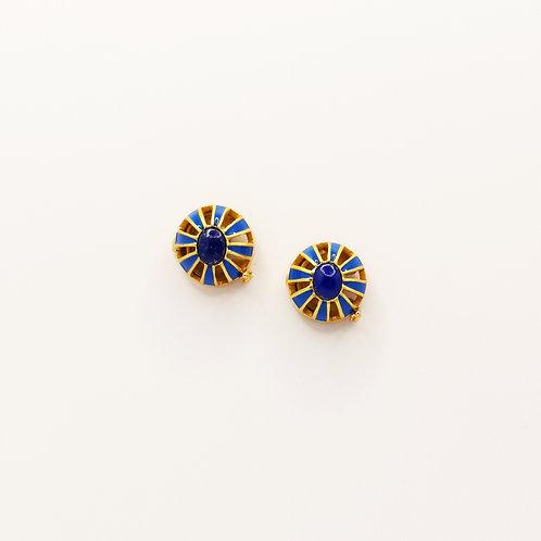 Turquoise enamel and Lapiz Lazuli buttons