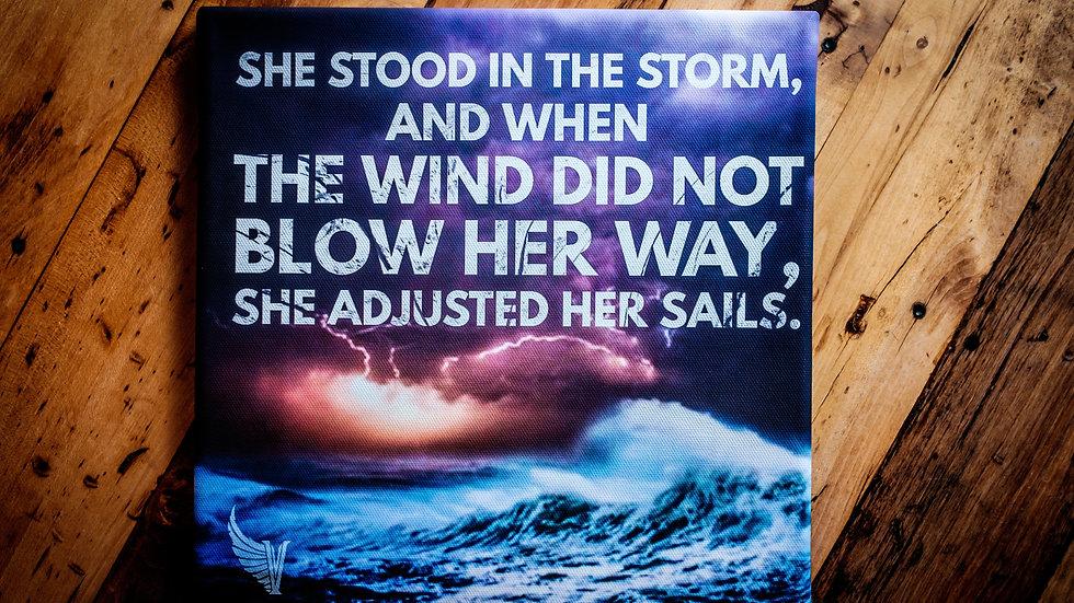 'Adjust Your Sails' Square Canvas