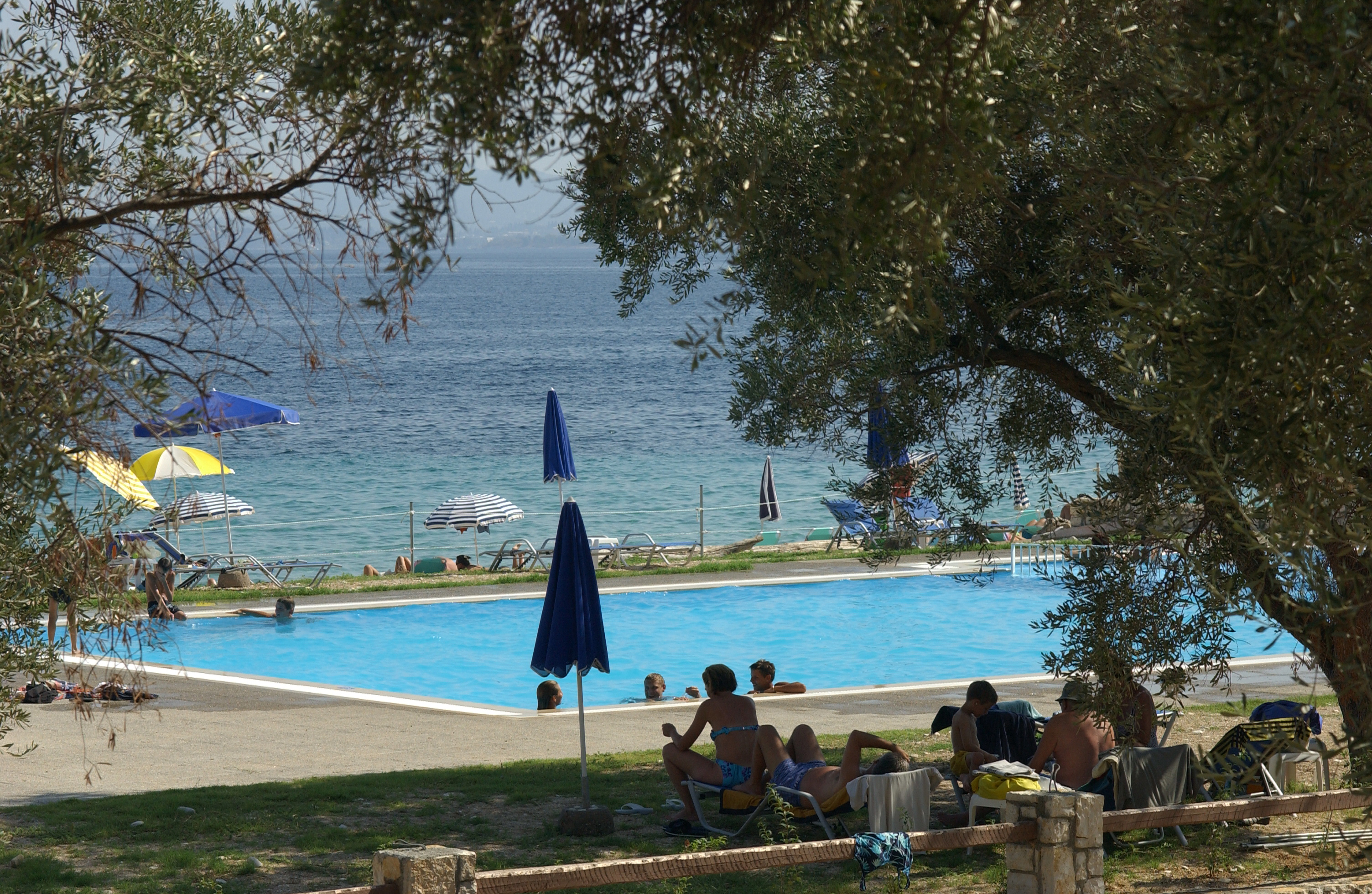 Riviera Barbati swimming pool & sea view