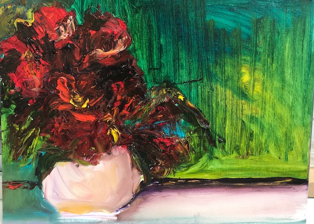 Red Blooms-oil