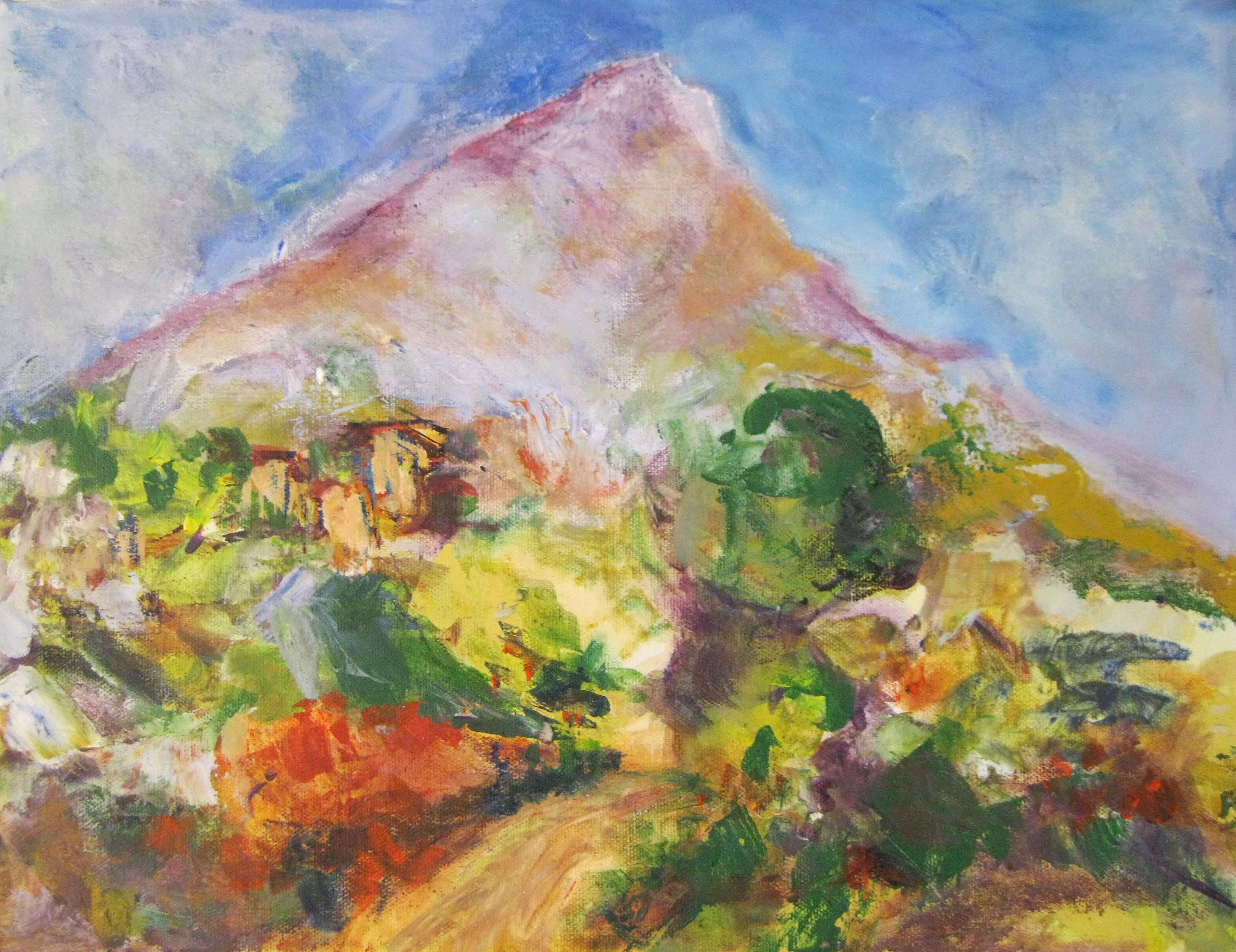 Mt. Victoire after Cezanne