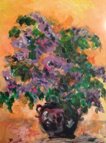 Lilacs on Orange