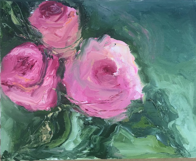 Roses - oil - sold