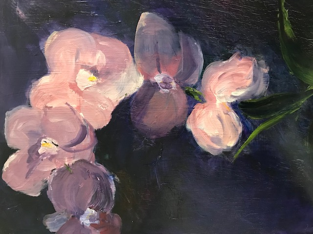 Orchids - oil