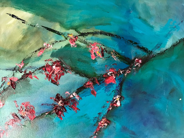 Cherry Blossoms - oil