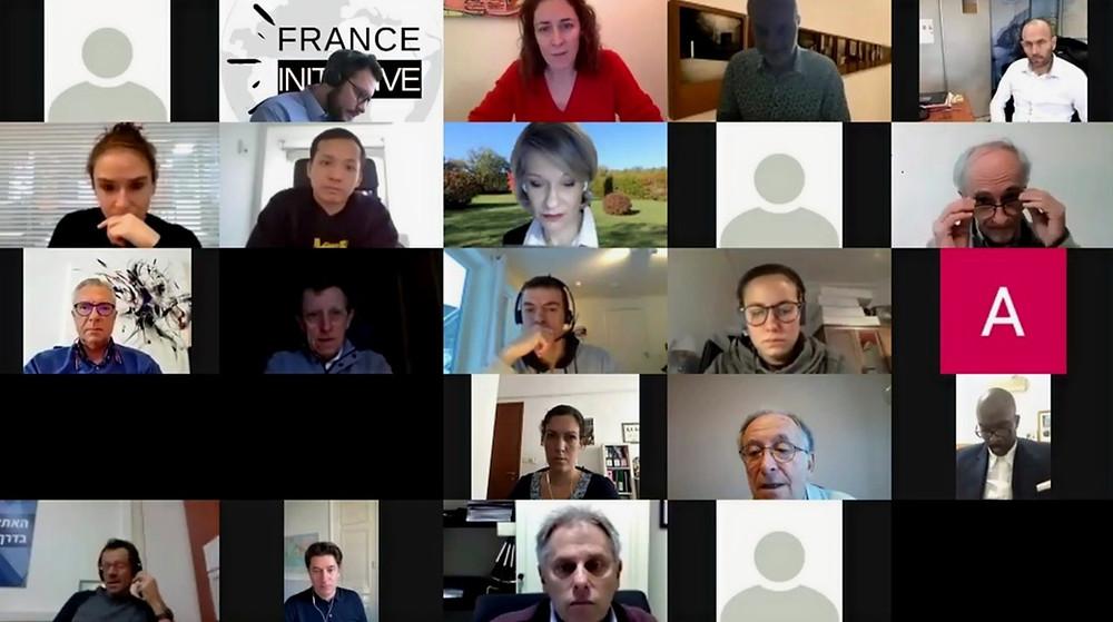 Quelques-uns des participants au Débat du CFI sur la diplomatie sportive française