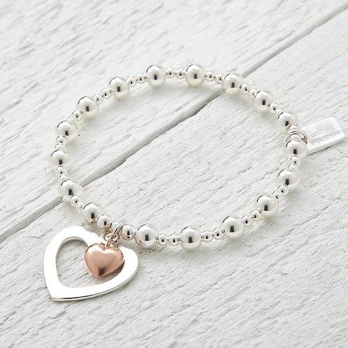 Sophia Rose Gold Heart Bracelet