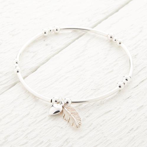 La Plume Silver Feather Bracelet