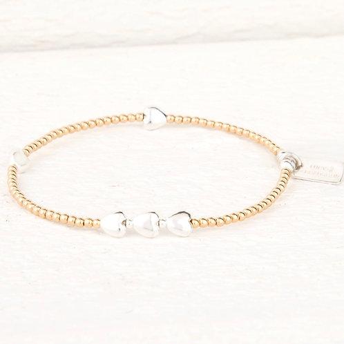 Isabella Gold Heart Bracelet
