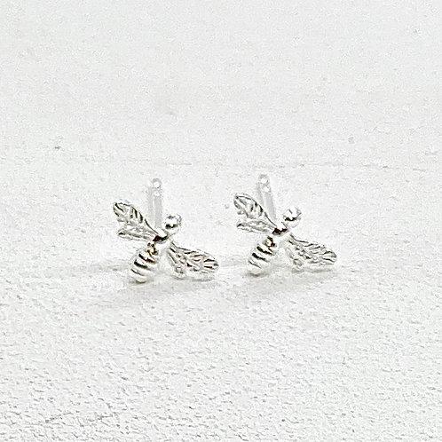 Beatrice Bee Silver Earrings