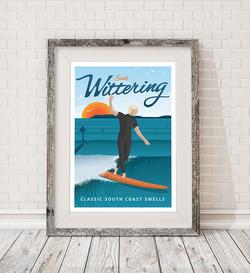 FRAMED-East-Wittering-surf-poster