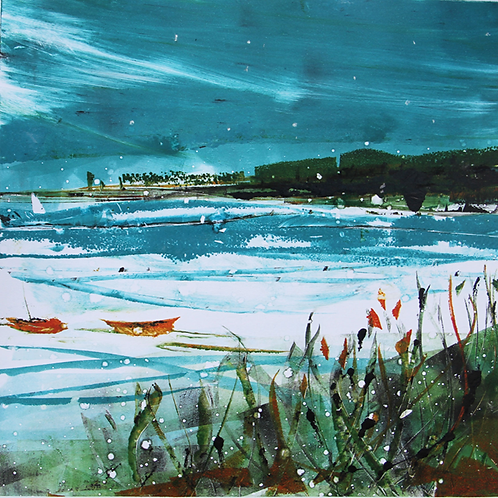 Snow on the Harbour – Limited Edition Giclee Print