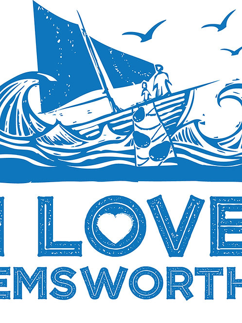 I Love Emsworth Greeting Card