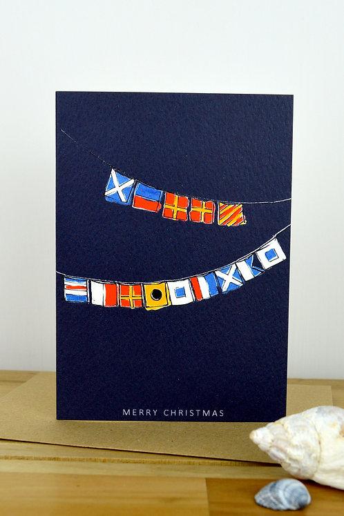 Merry Christmas Flags Card