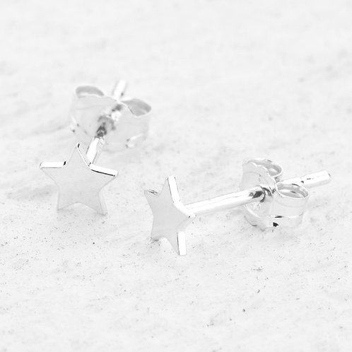 Cassiopeia Silver Star Earrings