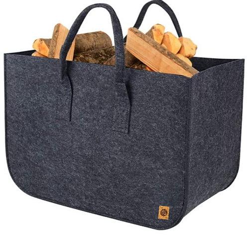 Large Felt Tote Bag/Log Bag