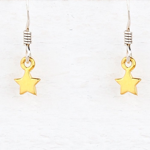 Cassiopeia Mini  Gold Star Earrings