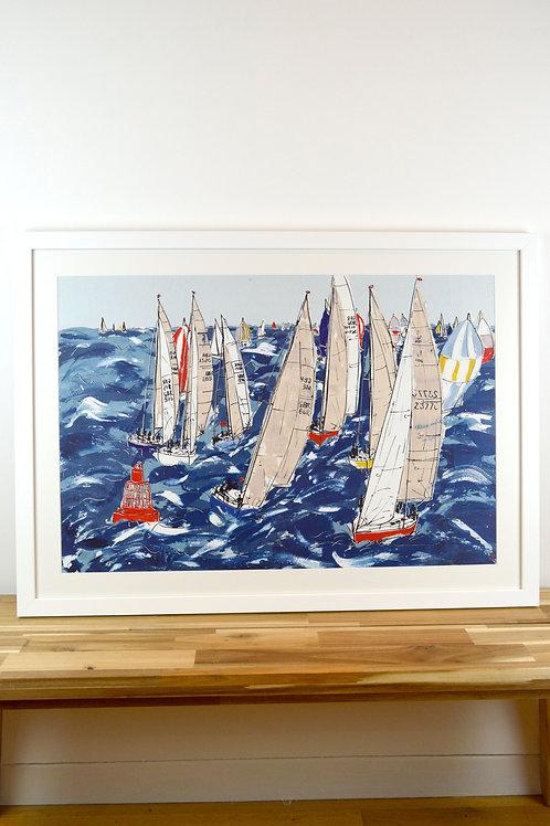 Original Painting 'Leeward Mark Rounding, Cowes Week'