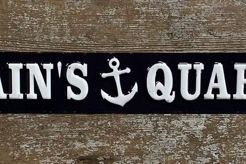 'Captains Quarters' Metal Signs