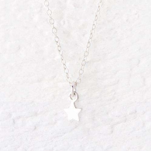Cassiopeia Mini Silver Star Necklace