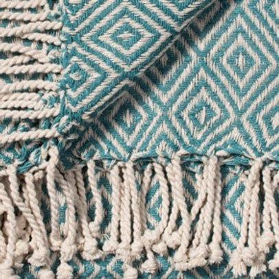 Diamond Cotton Handloom Throw