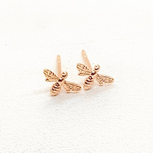 Beatrice Bee Rose Gold Earrings