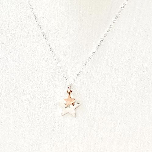 Phoebe Rose Gold Star Necklace
