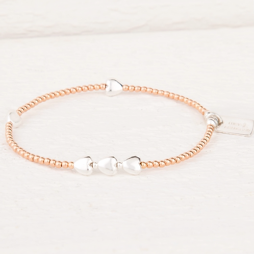 Isabella Rose Gold Heart Bracelet