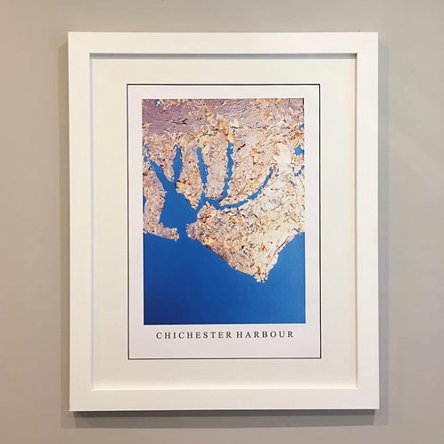 Chichester Harbour Gold Leaf Print