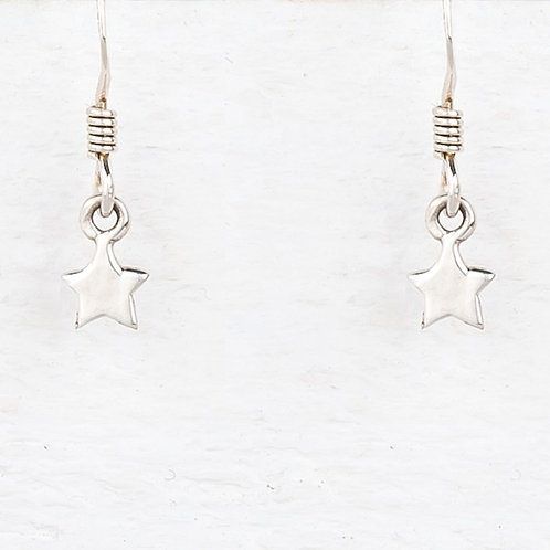 Cassiopeia Mini Sliver Star Earrings