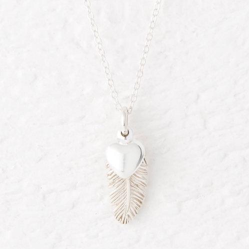 La Plume Silver Feather Necklace