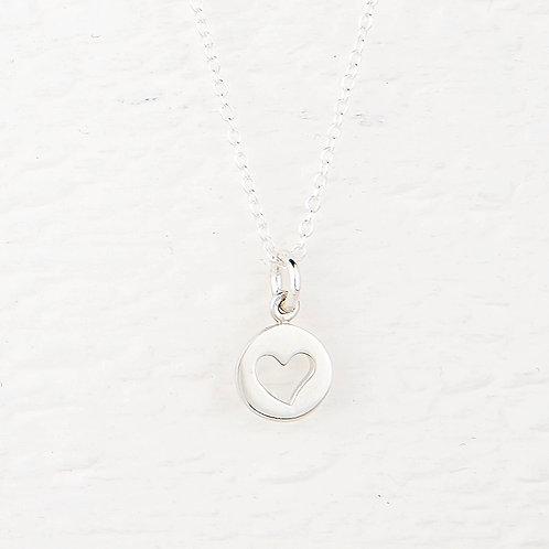 Naomi Silver Heart Necklace