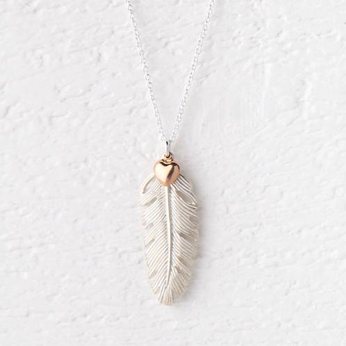 La Plume Large Silver Necklace