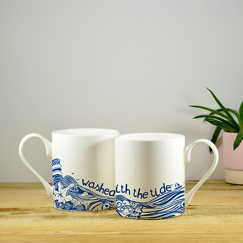 Bone China Hand Decorated Mugs