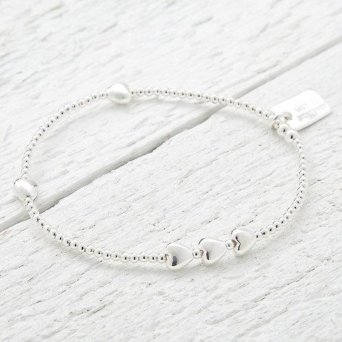 Isabella Silver Heart Bracelet