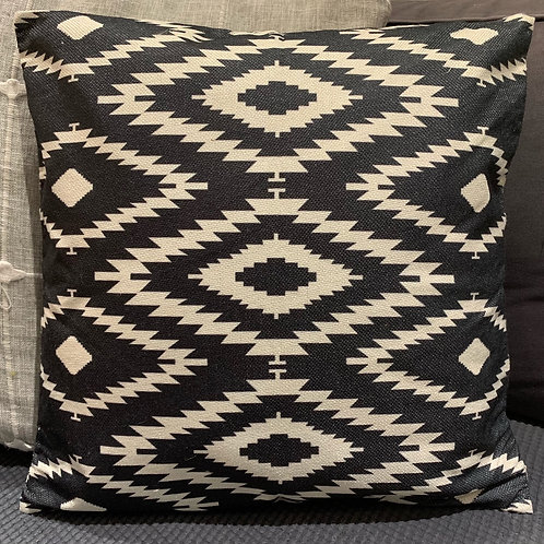 Jute Monochrome Cushion Cover