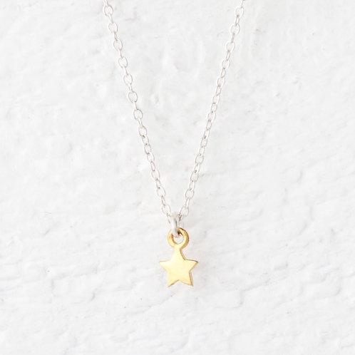 Cassiopeia Mini Gold Star Necklace