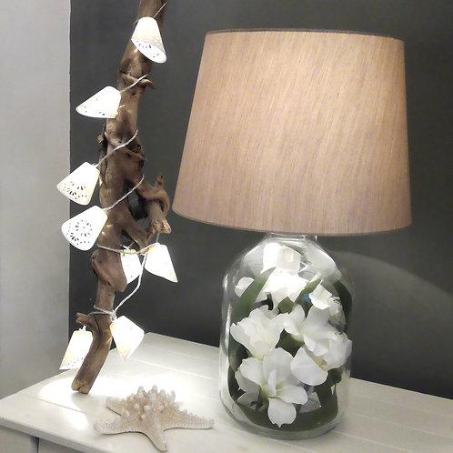 Tropical Floral Lamp