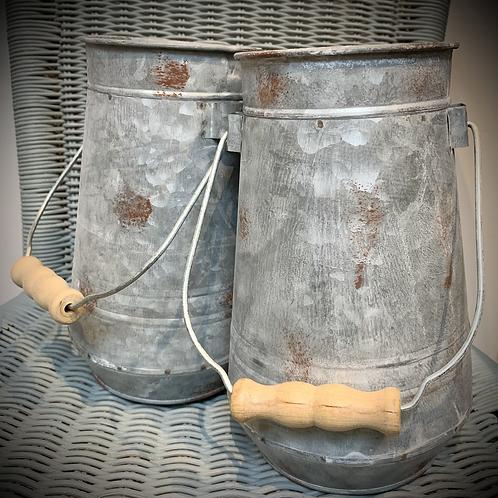 Galvanised Metal bucket/vase