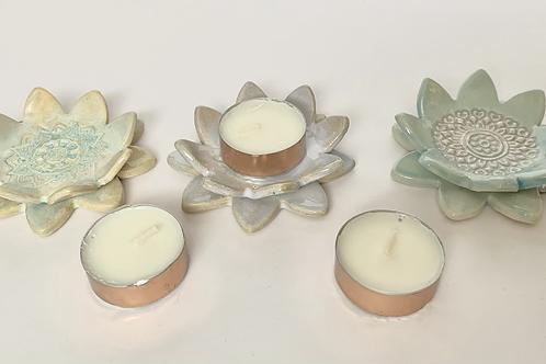 Succulent Tealight Holders (set of 3)