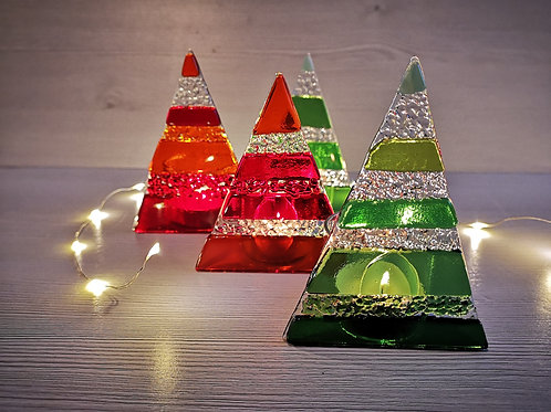 Christmas Tree Tealight Holders
