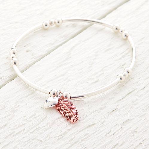 La Plume Rose Gold Feather Bracelet