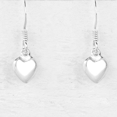 Jessica Silver Heart Earrings